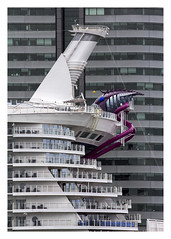 Breaking the mold (AurelioZen) Tags: europe netherlands rotterdamzuid wilhelminapier worldportcentre normanfoster harmonyoftheseas royalcaribbean