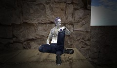 Listening To The Sound Of The Sea (ReignShadow) Tags: secondlife waves castle ruins tail sea ocean reflection king throne sat sit