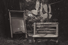 Ye Olden Wash Day (Imagemakercan - The Lensdancer) Tags: stilllife whimsy fantasy laundry frontyard magical faeries whimsical backgyard fairyshoot