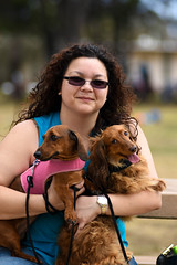 Ash and the kids (lilsin_805) Tags: ashley moley napoleon dog dogs doxi dachshund doxin wienerdog wiener