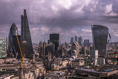 Nothing Stays The Same (James_Beard) Tags: canon6d london skyline viewpoint stpaulscathedral cityscapes cityskyline londonskyline londonarchitecture gherkin cheesegrater walkietalkie canarywharf clouds