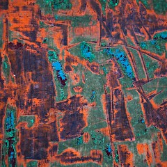 Corrosion chromatique (Gerard Hermand) Tags: 1201137406 gerardhermand france paris canon eos5dmarkii formatcarr metal rouille rust macro closeup abstrait abstract abstraction