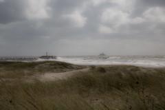 storm (Rasande Tyskar) Tags: nature sea danmark west coast dnemark meer sturm wind weather wetter orkan kriegsschiff navy ship hvidesande storm waves ocean north water port