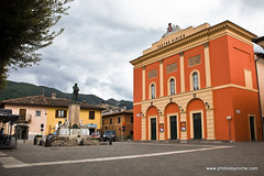 Norcia. Theater on the piazza (doveoggi) Tags: 8569 italy umbria norcia stbenedict piazza theater