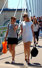 Comparing Handbags (marbowd37) Tags: streetphotography salfordquays salford street mediacity people girl