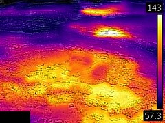 Thermal image of Big Anemone Geyser (morning, 11 June 2016) 1 (James St. John) Tags: big anemone geyser hill group upper basin yellowstone hotspot volcano wyoming hot springs thermal image temperature