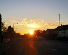 Sunset Over Colchester, UK (kevanwebb) Tags: sunset orange sun dusk trees composition nighttime creative exposure focus moment beautiful zoom landscape nature horizon natural light bright sky skyline