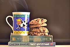 Morning Duo (Sanjiban2011) Tags: food foodphotography cookies objects object tabletop culinary coffeemug indoor books refreshment nikon d750 fullframe fx tamron tamron70200