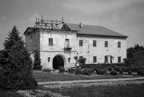 Main entrance building at Zolochiv Castle
