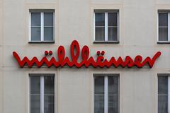 Mhlhuser (Florian Hardwig) Tags: mnchen lettering alllowercase script facade logo fashionstore modehaus