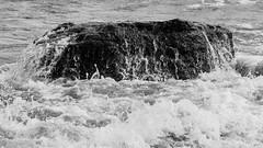 Wearing Down (K.G.Hawes) Tags: coast erie greatlakes lake lakeerie rock rocks rocky splash splashing water wave waves black white blackandwhite bw monochrome monochromatic