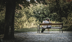 Lovebirds (vicorven) Tags: couple love bench tree park light bright emotion cute lovely