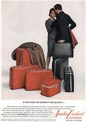Amelia Earhart Luggage, 1965 ad (Tom Simpson) Tags: ad ads advertising advertisement vintage vintagead vintageads 1965 1960s ameliaearhart luggage