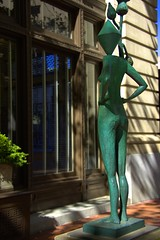 Sidewalk Art (swong95765) Tags: art sidewalk sculpture unique metal striking beautiful metallic