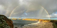 After the rain (Derek Midgley) Tags: img3226 rainbow peterborough greatoceanroad iphone pano