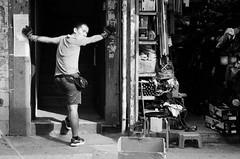 Mong Kok Hong Kong 10.2016  #film #M3 #Leica #LeicaM3  #50mm #bnw #blackandwhite #ilford #delta400 #streetphotography #mongkok #hongkong (man.cheukhim) Tags: film m3 leica leicam3 50mm bnw blackandwhite ilford delta400 streetphotography mongkok hongkong