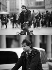 [La Mia Citt][Pedala] (Urca) Tags: milano italia 2016 bicicletta pedalare ciclista ritrattostradale portrait dittico bike bicycle nikondigitale mir biancoenero blackandwhite bn bw nn 89148