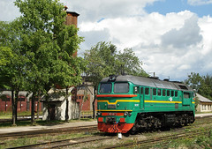 Locomotive (Konstantin D.) Tags: dzelzce locomotive  m62 62 railroad railway   lettonie otwa ldz latvia jelgava depo   rail latvija  lokomotiv bahn dzelzcels