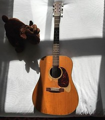 "Via Zach: Been absent minded on #GOTW ... This is my 1960 Martin D-18 named ""Celestine"" #GuitaroftheWeek #zachmyers #shinedown (ShinedownsNation) Tags: shinedown nation shinedowns zach myers brent smith eric bass barry kerch"