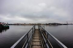 Waiting for a ship -   (Valery Parshin) Tags: neva russia stpetersburg saintpetersburg ingermanland outdoor sky fisheye 8mm samyang vasilyevskyisland river pier valeryparshin