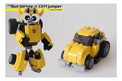 BC Cover 1 (Sam.C MOCs S2 Studios)) Tags: lego transformers bumblebee cliffjumper chibi moc mech robot anime car scifi 80s