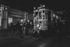 Taksim Tram (Ash and Debris) Tags: tram people city istanbul turkey urbanlife streetlife bw urban citylife life tramstop retro monochrome street ä°stanbul tr taksim