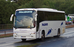 McLeans Coaches PN04BNX on the A90, Dundee 1/10/16 (andyflyer) Tags: mcleans plaxton plaxtonpanther pn04bnx coach bus transport a90