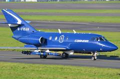 DSC_3019 - Dassault Falcon 20, G-FRAH, FR Aviation Ltd., Glasgow Prestwick Airport, 19th October 2016. (Martin Andrew Laycock) Tags: jointwarrior prestwick glasgowprestwickairport egpk fraviation dassaultfalcon20 gfrah