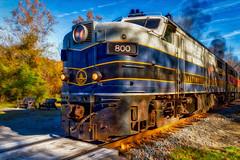 Nursing Diesel at the Station (Yaecker Photography) Tags: diesel train autumn fall fallcolors engine railroad rail railfan cuyahoga cuyahogavalleynationalpark