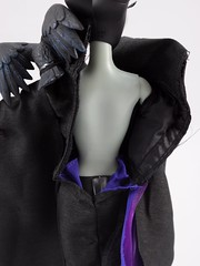 Aurora and Maleficent Doll Set - Disney Fairytale Designer Collection - Deboxing - Maleficent in Display Case - Back of Outfit Opened - Midrange Rear View (drj1828) Tags: us disneystore dfdc heroesandvillains disneyfairytaledesignercollection 2016 purchase sleepingbeauty maleficent 12inch limitededition le6000 deboxing