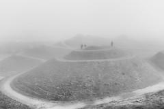 2016.10.26 (michaeljoakes) Tags: mono fog mist bw noiretblanc eos efs18200mmf3556is northumberlandia canoneos7d people hill sculpture park landsculpture