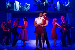 """Jennlee Shallow (Elizabeth), Doug Carpenter (Billy) and the company of the Broadway Sacramento presentation of """"Dirty Dancing – The Classic Story On"""" Stage at the Sacramento Community Center Theater Dec. 26, 2014 – Jan. 4, 2015. Photo by Matthew Murphy."""