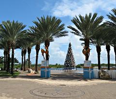 (goatling) Tags: christmas holiday tree reindeer island decoration palm ornament caribbean cayman carib caymanislands tropics grandcayman caribe westindies britishwestindies camanabay gcm201412 201412gcm