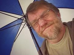 Shrink Wrap Pain (MTSOfan) Tags: me umbrella john ouch pain selfie needhaircut hss mtsofan selfiesunday