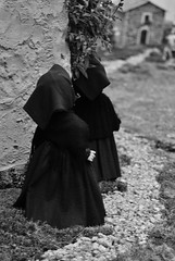 Miniature (Marysol_) Tags: people blackandwhite sardinia traditions folklore masks biancoenero