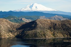 Mt Adams (YuriZhuck) Tags: usa lake reflection monument nature water landscape volcano us washington adams hiking spirit trail helens wa