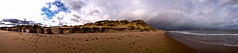 Newburgh beach panorama (grumpybaldprof) Tags: sea sky panorama colour beach nature clouds river scotland rainbow sand aberdeenshire north perspective reserve estuary sands newburgh ythan forvie