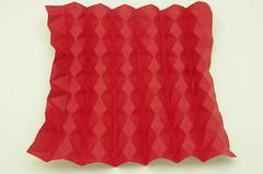 Fujimoto Star spring (B13) sheet before collapsing (Pliages et vagabondages) Tags: star origami fujimoto