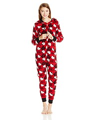 Hello Kitty Women's Hooded One Piece Pajama, Red/Black, Medium (whats_home_health_care) Tags: hello kitty womens medium piece pajama hooded redblack