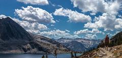 Duck Lake, John Muir Wilderness, CA (mfetz1026) Tags: trees lake clouds rocks sierra