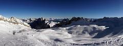 Afternoon panorama at Zugspitzplatt (WeatherMaker) Tags: winter snow ski mountains alps bayern deutschland bavaria skiing oberbayern alpen garmisch zugspitze partenkirchen grainau kreuzeck