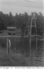 THE DIVING TOWER, SWIMMING POOL, EMERALD, VIC. (State Library Victoria Collections) Tags: 1920s swimming 1930s 1954 1940s pools 1950s 1920 swin swimmingpools statelibraryofvictoria statelibraryvictoria