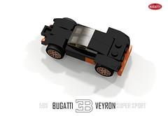 Bugatti Veyron Super Sport (1:65) (lego911) Tags: world auto records car sport vw volkswagen model break lego lets render ss go some super turbo record 88 bugatti coupe supercar challenge holder cad w16 lugnuts 2010 veyron povray faster moc ldd 165 hypercar lego911 letsgobreaksomerecords