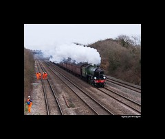 The Cathedrals Express. 01.03.2015. (martin289) Tags: trip southwales tour steam kettle locomotive railways excursion mayflower b1 lner railscape 61306 thecathedralsexpress railscene llandevenny martin289 griffinimages