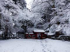 Kifune Shrine snow scene (izunavi) Tags: snow japan kyoto   snowfall snowscene   kyotocity   kyotoprefecture  kifuneshrine sakyoward