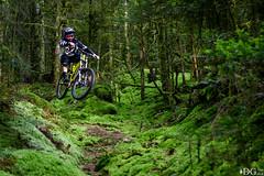 Dans la mousse (Damien GUIOT) Tags: nature sport montagne automne jump nikon ride action flash vert mtb freeride 70200 septembre vtt fort saut vosges mousse 2014 strobist d810 mickaelhaxaire damienguiot