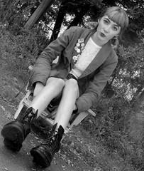 artsy and curious (brinksphotos) Tags: blackandwhite skinny photography chair photoshoot mini artsy curious woah goodtimes docmartins portraitphotography