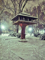 Palomar del Parque de Gasset / Pigeon house in Gasset Park (stephenhaworth) Tags: house snow night noche pigeon nieve nevada olympus palomar pigeonhouse ciudadreal lamancha castillalamancha