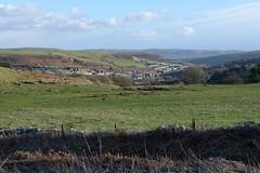 012-20150128_Mid Glamorgan-looking SE from track on N side of Cefn Eglwysilan to Senghenydd-Craig Llysfaen (L) and Cefn Onn (R) in distance (Nick Kaye) Tags: southwales wales landscape village glamorgan midglamorgan senghenydd