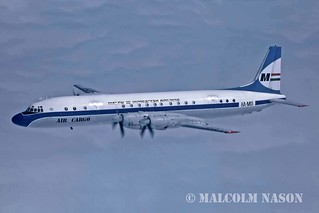ILYUSHIN IL18D HA-MOI MALEV air-to-air